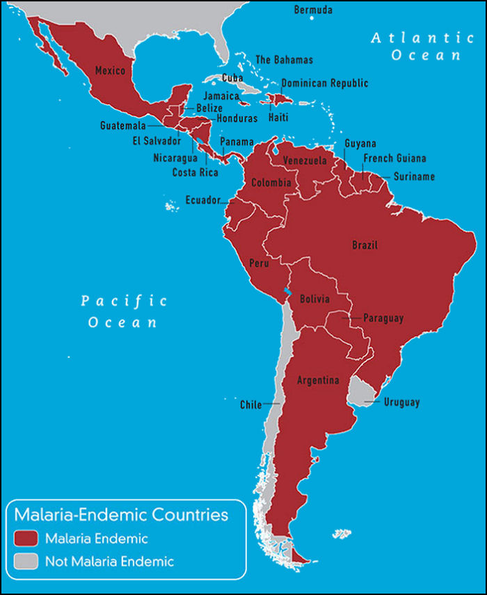 South  Central America  Caribbean  Travel Vaccines and Malaria