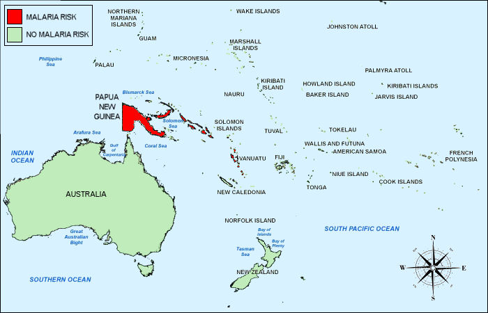 Oceania Travel Vaccines and Malaria Prophylaxis