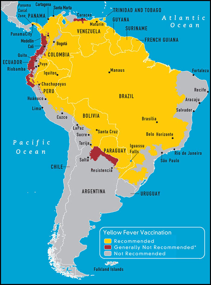Map Of America And Caribbean.South Central America Caribbean Travel Vaccines And Malaria